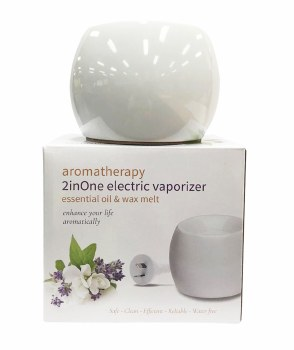 Aromatherapy Vapouriser 2in1 Electric White Coral