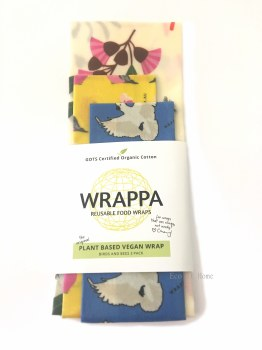 WRAPPA Vegan Wrap 3 Pack Birds & Bees