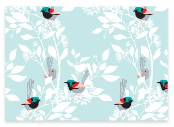 Wrapping Paper Variegated Fairy Wren