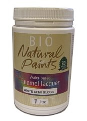 Bio Enamel Lacquer Semi Gloss White 1L Water-based