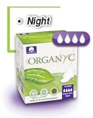 Sanitary Pads Organyc - Thin Heavy flow, Night