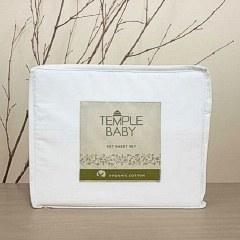 Cot Sheet Set Temple Organic Cotton