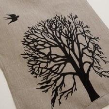 TeaTowel - Tree design, Linen