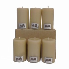 Beeswax Candle 8cm Solid x6