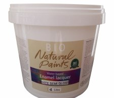 Bio Enamel Lacquer Semi Gloss White 4L Water-based