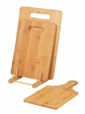 Bamboo Cutting Boards (set of 3) & stand