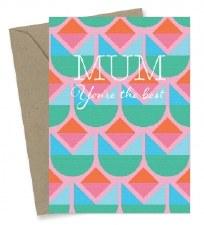 Greeting Card - Best Mum