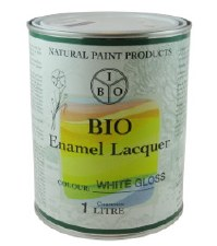 Bio Enamel Lacquer White Gloss EXTERIOR, High Solid 1L