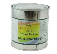 Bio Enamel Lacquer 250ml White Semi-Gloss