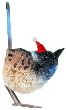 Christmas Ornament Blue Wren