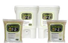 Bokashi 2 Bins & 2 Bags White