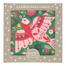 Christmas Cards Set 8 Flame Robin