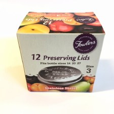 Fowlers Vacola Size 3 Lids 12 pack