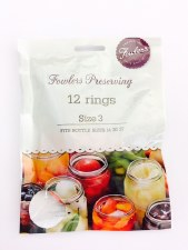 Fowlers Vacola Size 3 Rings 12 pack