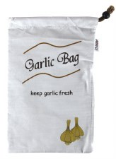 Fruit and Veg Bag - Garlic Blackout lining
