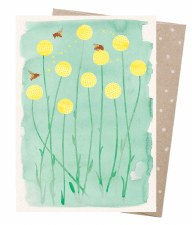 Greeting Card - Bees & Billy Buttons