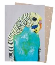 Greeting Card - Bessie Budgie