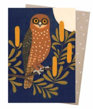 Greeting Card - Boobook & Banksia