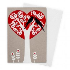 Greeting Card - Tree Heart
