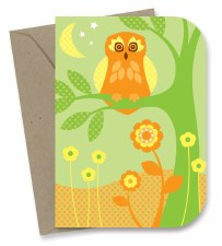 Greeting Card - Twilight Owl