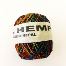Hemp Ball of Twine Small Rainbow