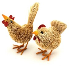 Animal Hen & Rooster pair 7cm