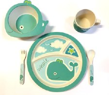 Childs Dinner Set Whale