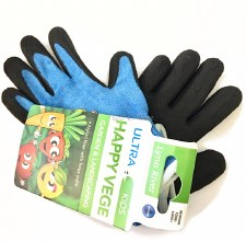 Kids Garden Gloves Latex Happy Vege