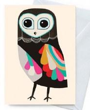 Greeting Card - Luna Owl