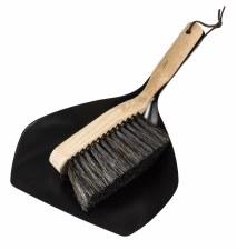 Metal Dustpan and Brush Set