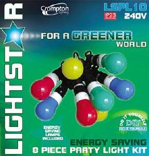 Party Lights Energy Saving 8pce
