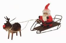 Rudolf pulling Santa's sleigh