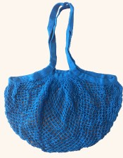 Shopping Bag Mesh Blue Organic Cotton