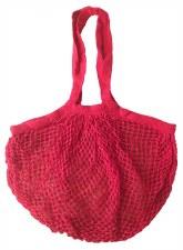 Shopping Bag Mesh Red Organic Cotton