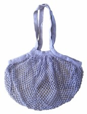 Shopping Bag Mesh Violet Organic Cotton