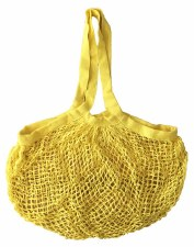 Shopping Bag Mesh Yellow Organic Cotton