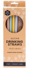 Silicone Straws 4 Pack