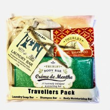 Travel Bars: Tonic Shampoo Bar, Creme de Menthe moisturising Bar and Laundry Bar