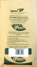 Waxed Reusable Veggie Wraps x4