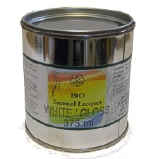 Bio Enamel Lacquer 375ml  White Semi-Gloss