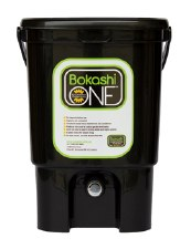 Bokashi 1 Bin 1 Bag Starter Kit - Black