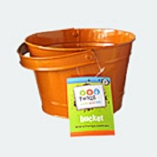 Childs Bucket or Pail - Orange