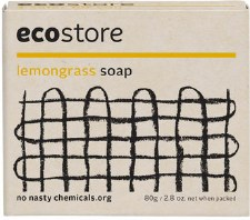 Lemongrass Soap 80g - packaged - ecoStore
