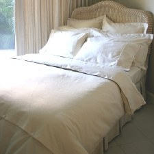 Double Hemp Quilt Cover White