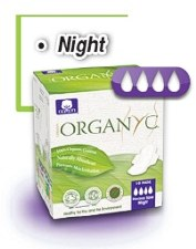 Sanitary Pads Organyc - Thin Heavy flow, Night