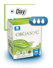 Sanitary Pads Organyc - Thin Moderate Flow, Day