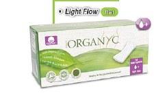 Panty Liners Organyc - Light Flat