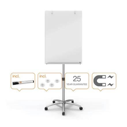 Nobo Brilliant White Mobile Glass Easel