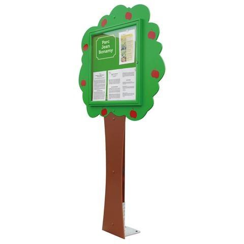Information Tree Post Mounted Lockable Display Board