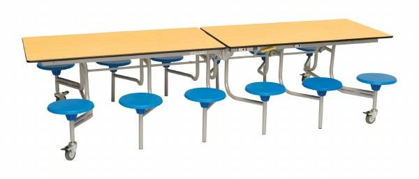 12 Seat Rectangular Mobile Folding Tables